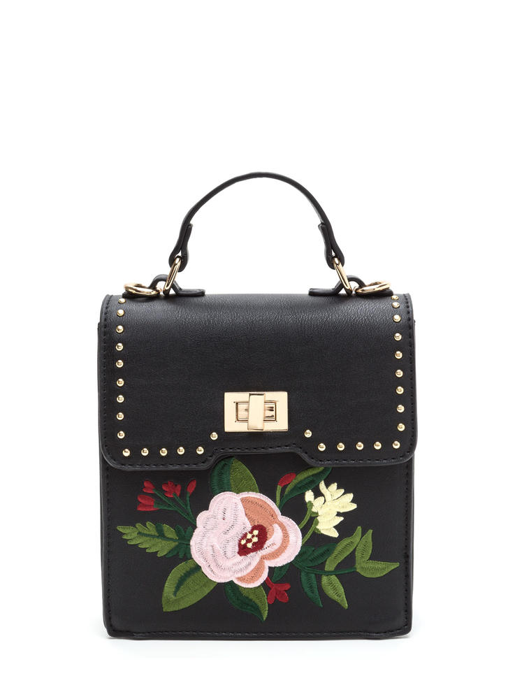 Floral Perfection Faux Leather Bag