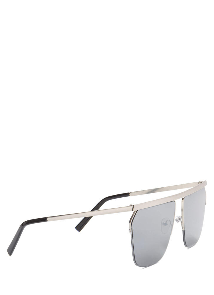 Flat Rate Oversized Sunglasses SILVER