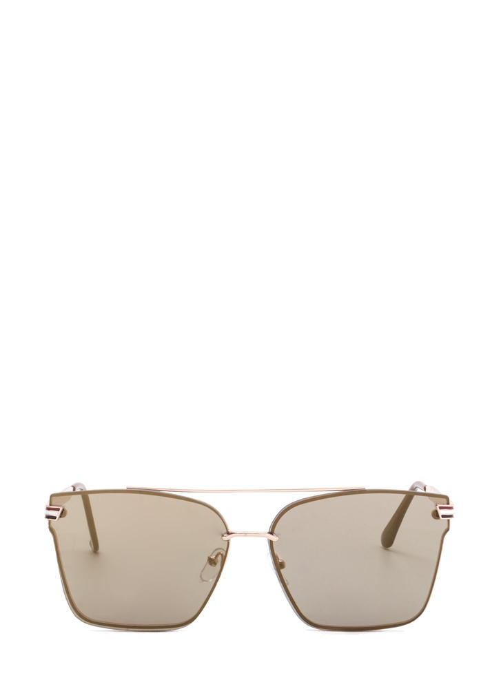 Riviera Trip Top Bar Sunglasses BROWNGOLD
