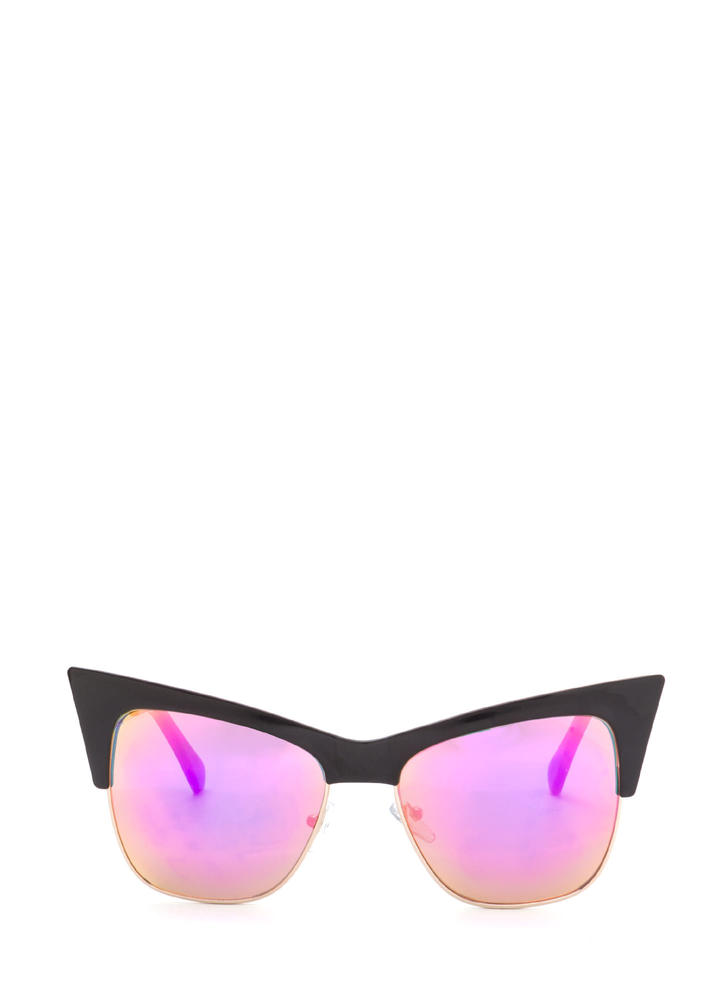 Cat's Meow Brow Bar Sunglasses PINKBLACK
