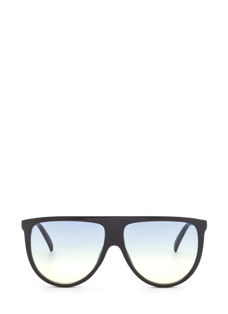 Sunny Statement Gradient Tinted Sunglasses