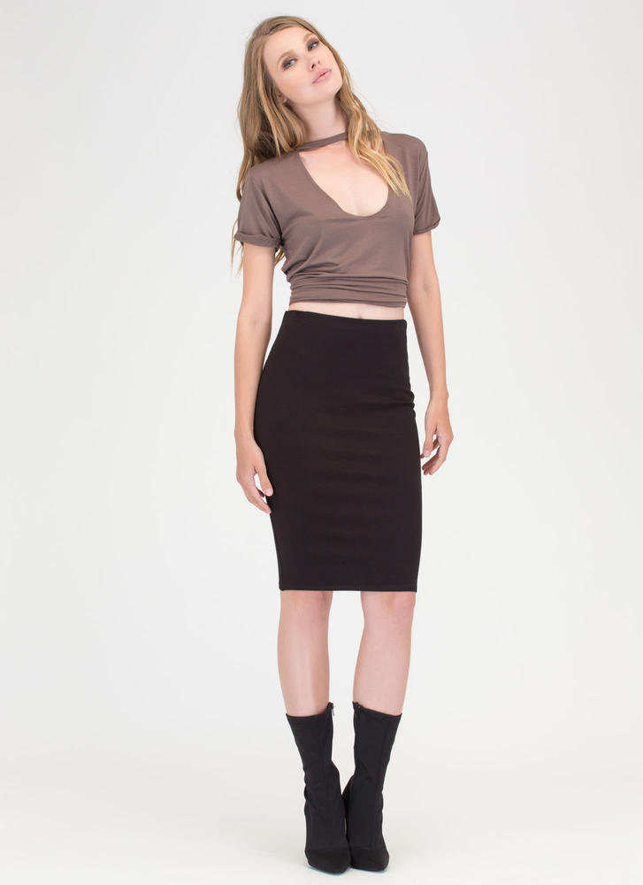 Work It Bodycon Pencil Skirt