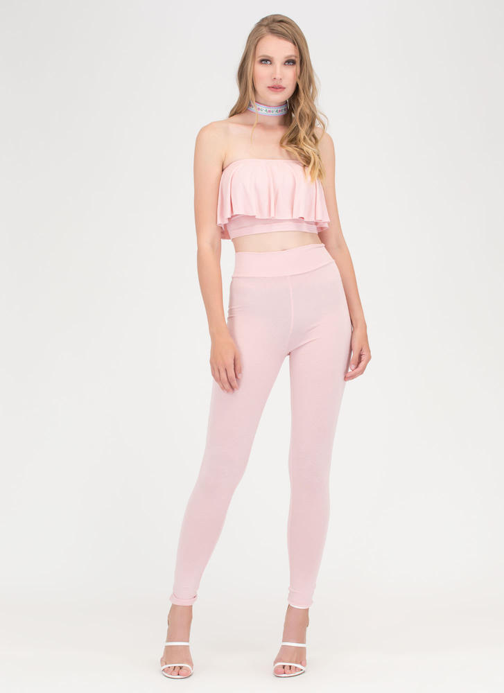 Flirty Fun Bandeau Top 'N Leggings Set