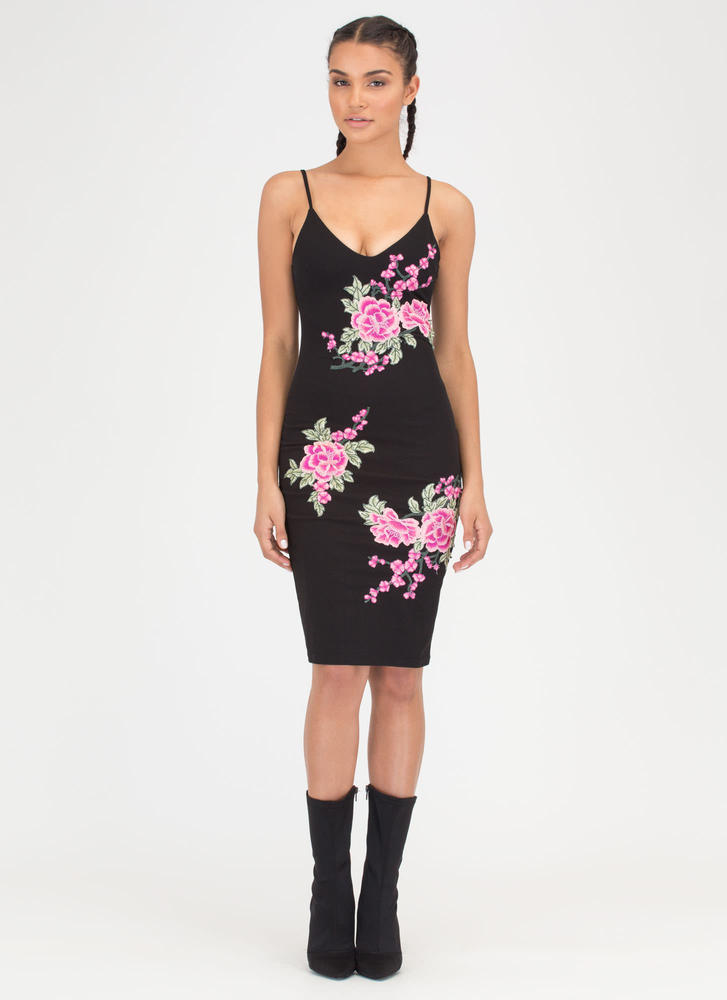 Flower To Flower Embroidered Dress