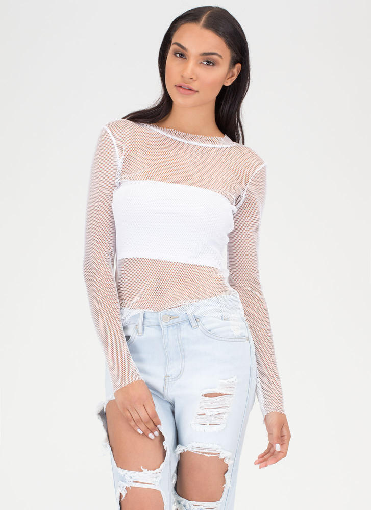 Support Network Sheer Long-Sleeve Top