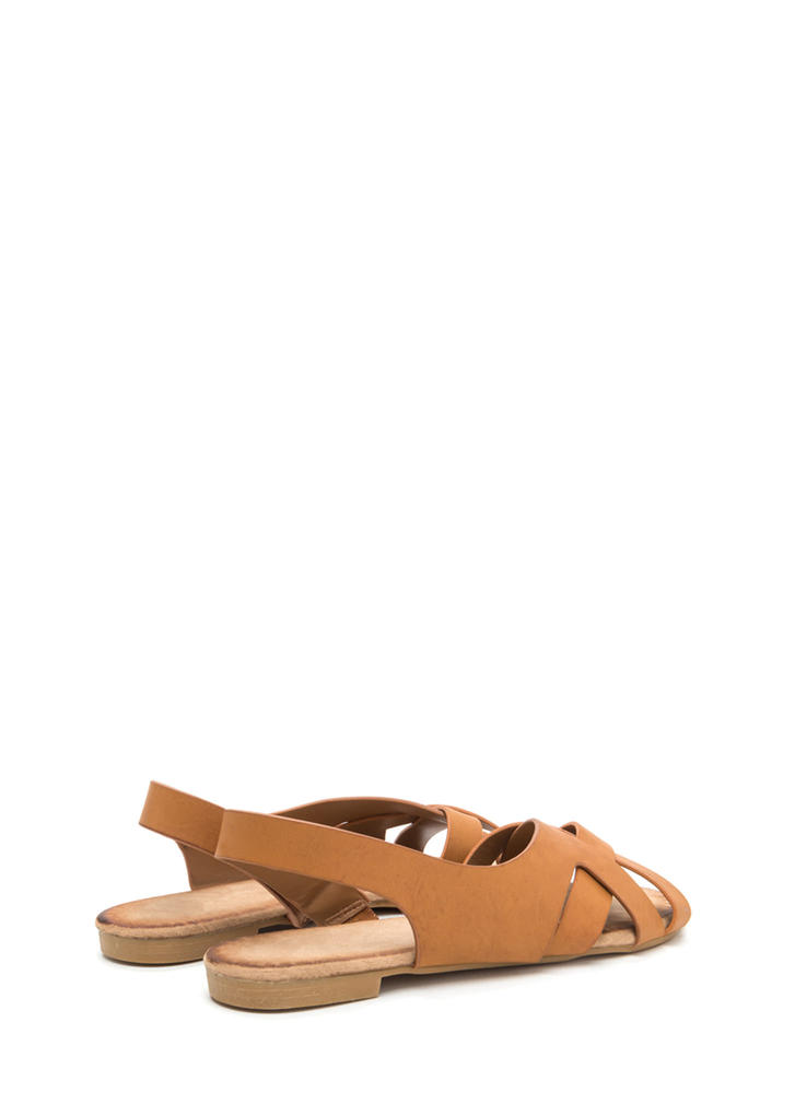 Vacay Vibes Woven Faux Leather Sandals TAN