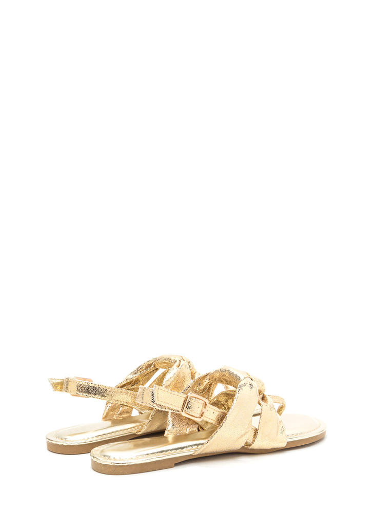 Knotty By Nature Metallic Sandals GOLD