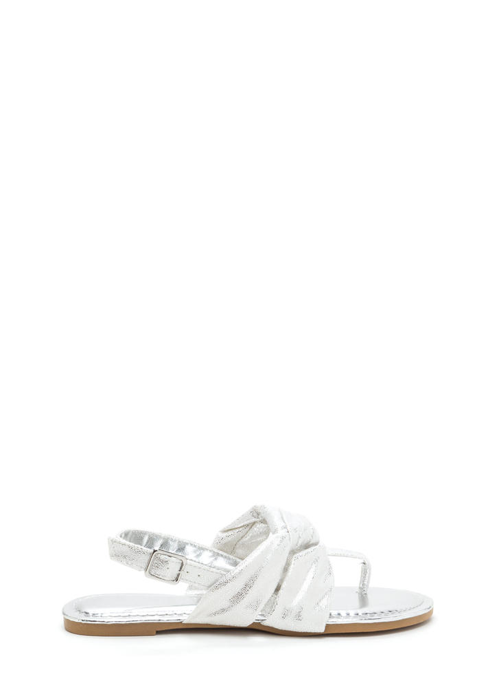 Knotty By Nature Metallic Sandals