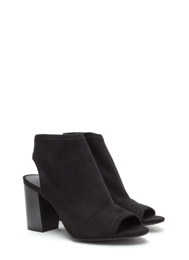 All Time Favorite Chunky Cut-Out Booties BLACK