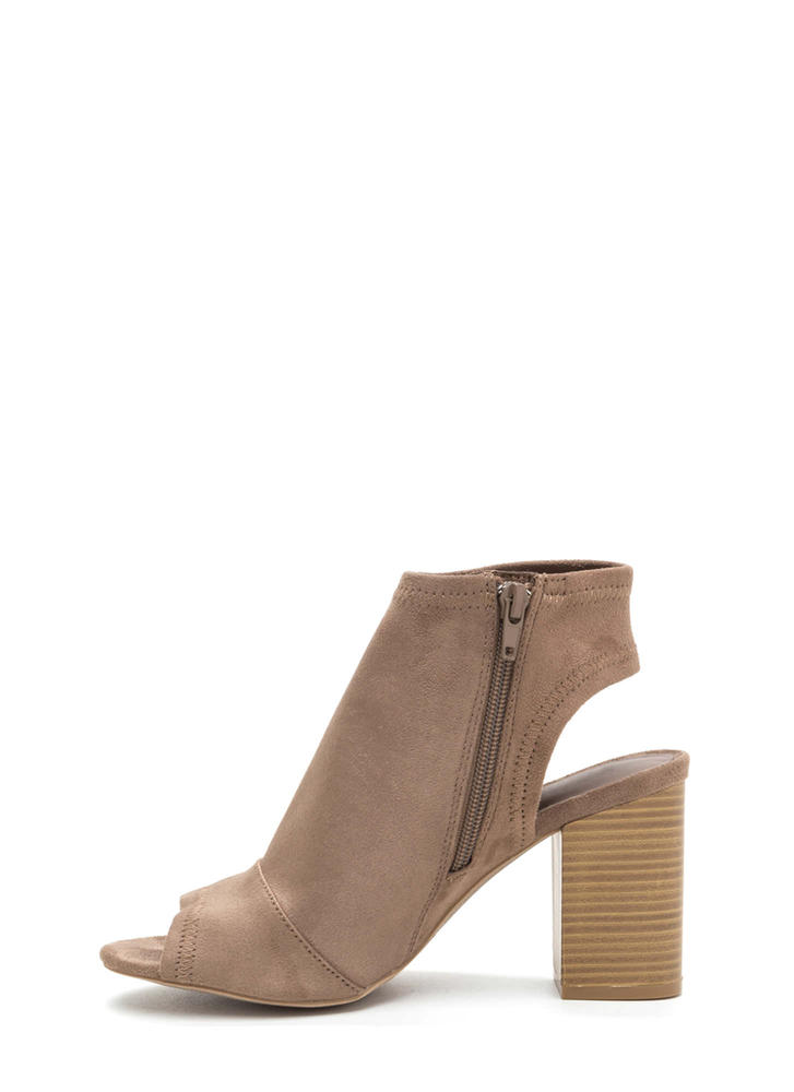 All Time Favorite Chunky Cut-Out Booties TAUPE