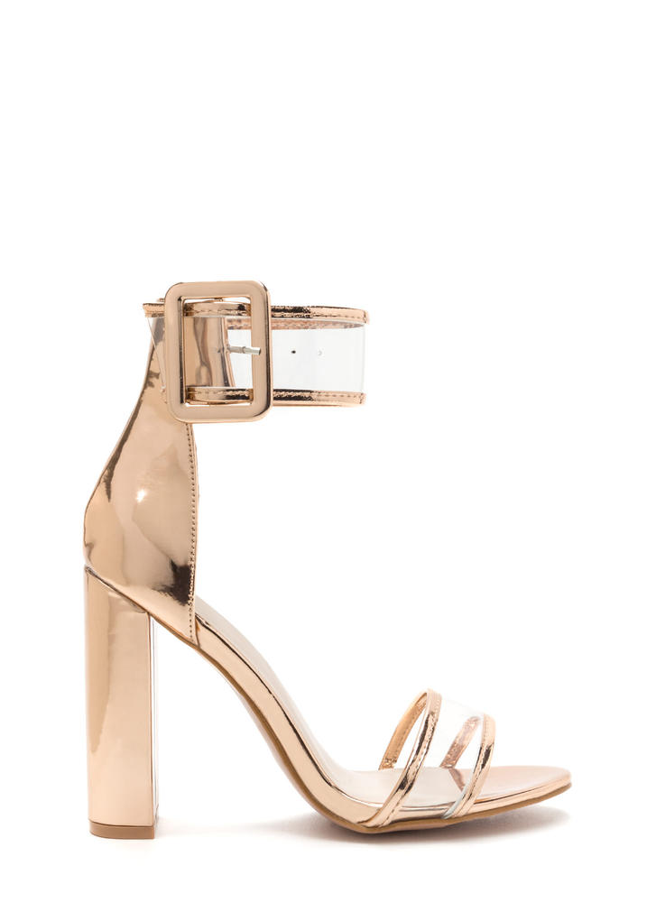 Wide With Wonder Chunky Metallic Heels
