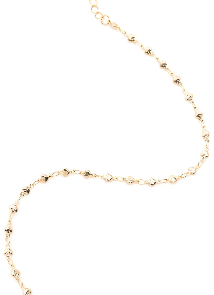 Heart's Desire Dainty Chain Necklace GOLD