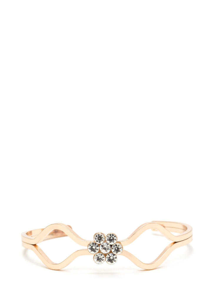 Center Of Attention Jeweled Cuff