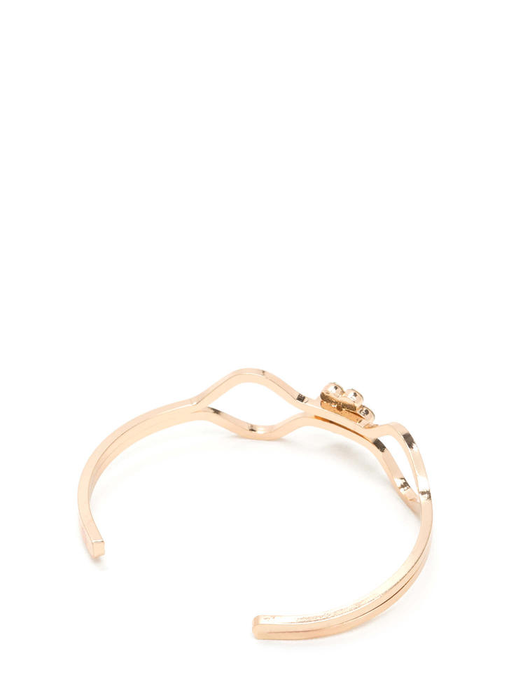 Center Of Attention Jeweled Cuff GOLD