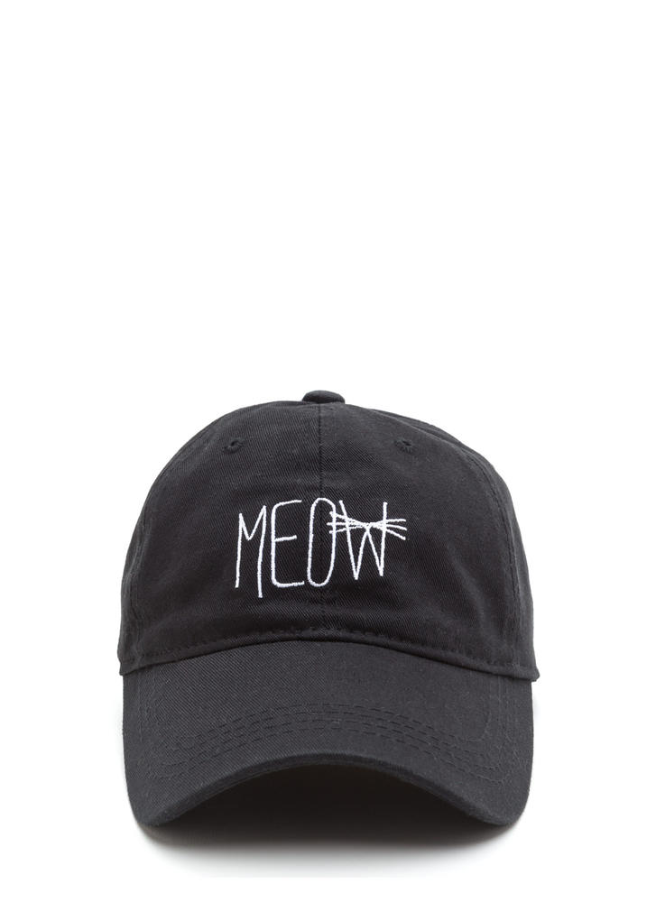 Right Meow Embroidered Baseball Hat