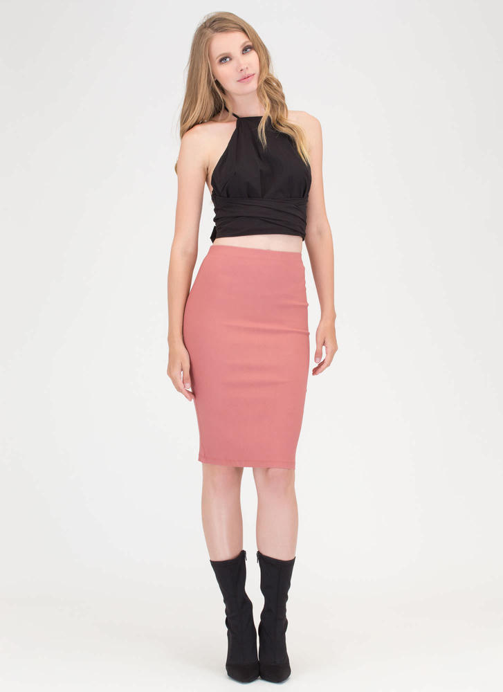 Ahead Of The Curve Pencil Skirt