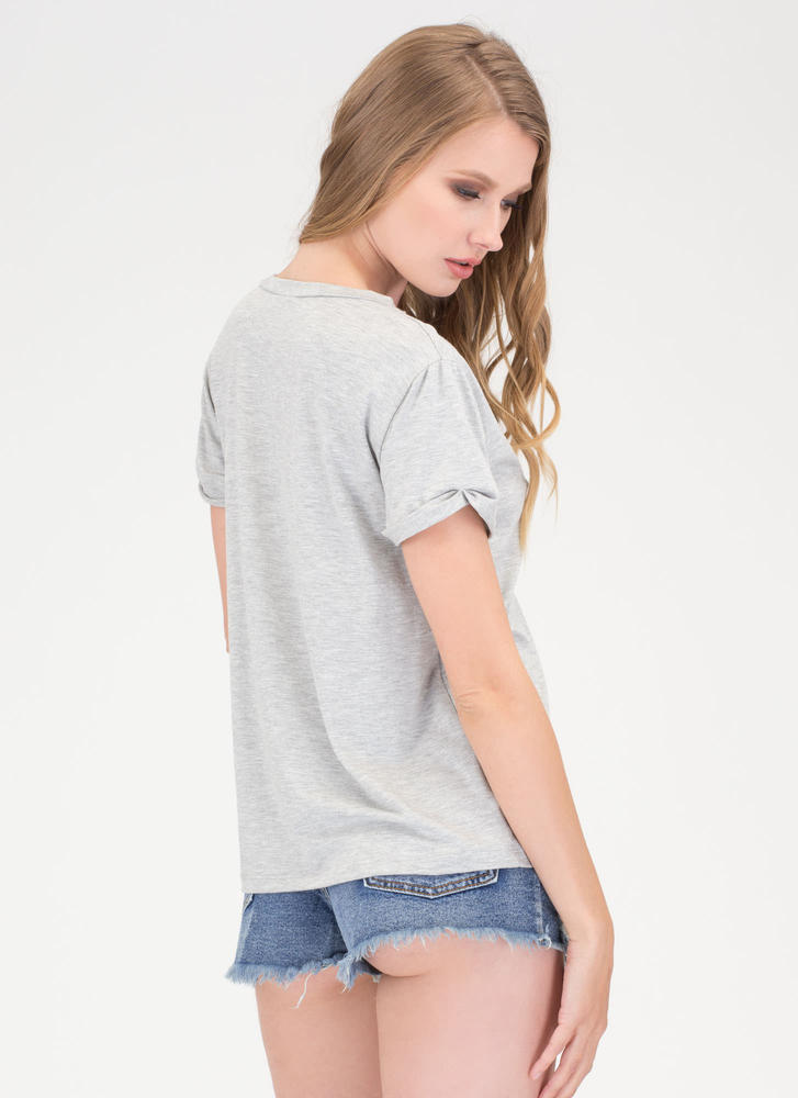 Get It Off Your Chest Cut-Out Top HGREY