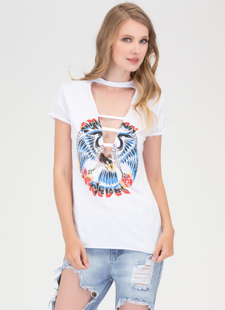American Rebel Graphic Choker Tee