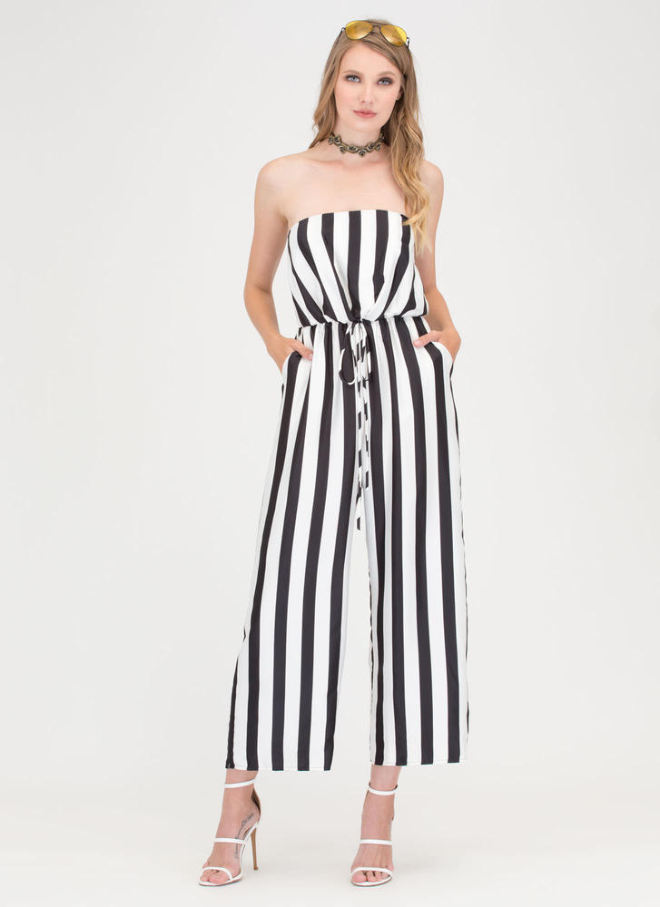Chic My Language Striped Jumpsuit