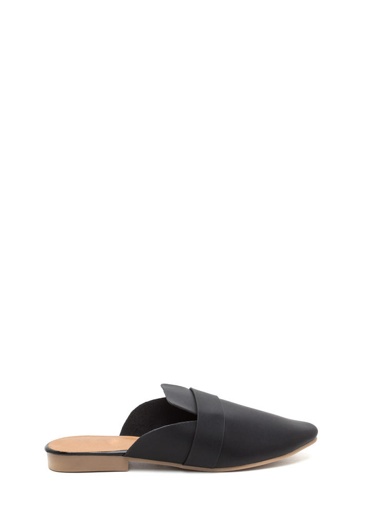 Slide By Faux Leather Mule Flats