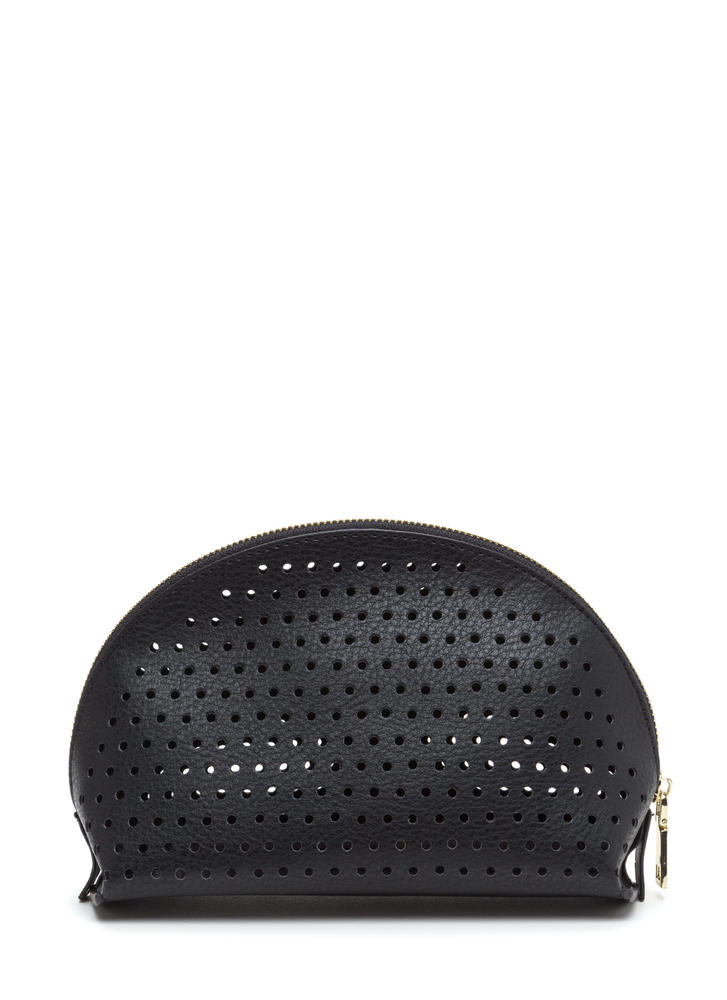 Makeup Junkie Perforated Pouch BLACK