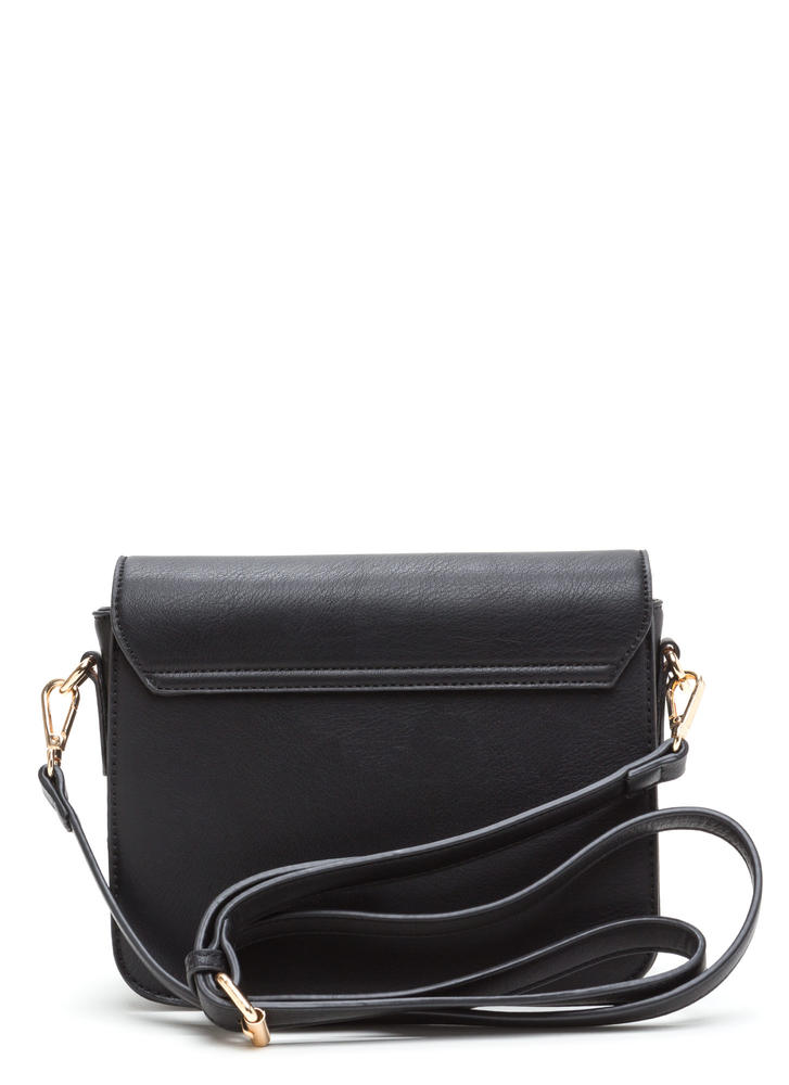 Chic To Me Faux Leather Crossbody Bag BLACK