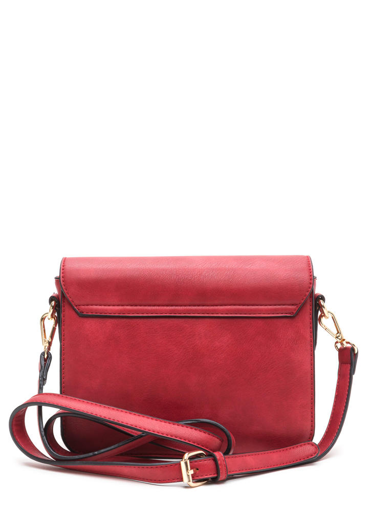Chic To Me Faux Leather Crossbody Bag RED