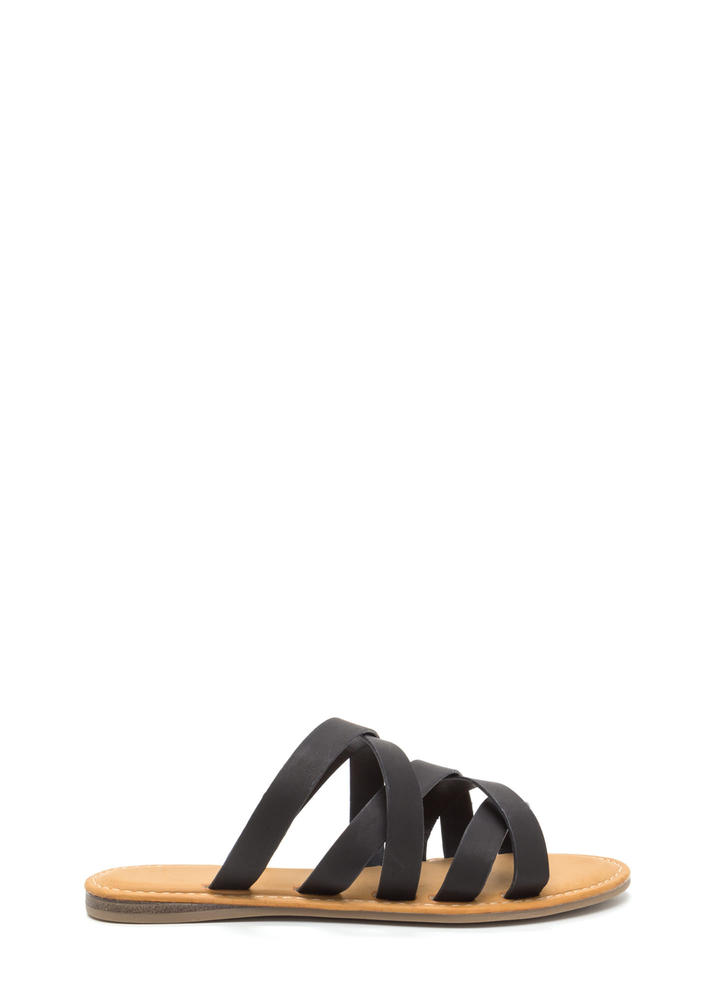 Take Five Strappy Slip-On Sandals