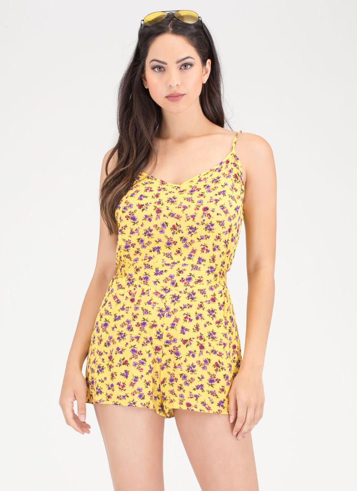 Bloom Mate Plunging Floral Romper
