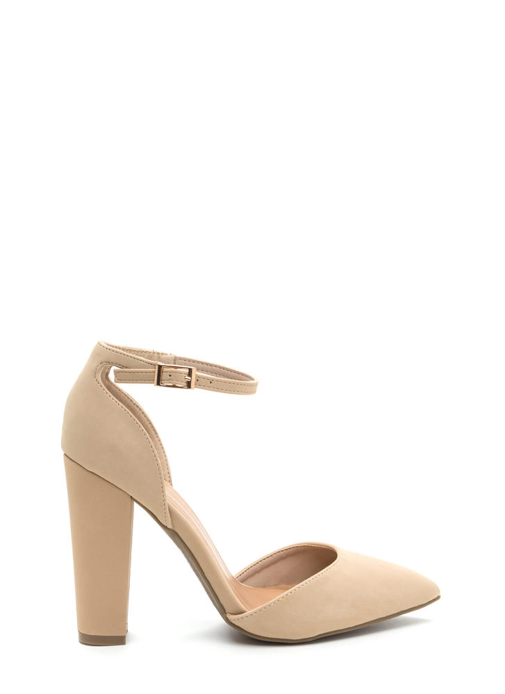 Chic 'N Simple Pointy Faux Nubuck Heels