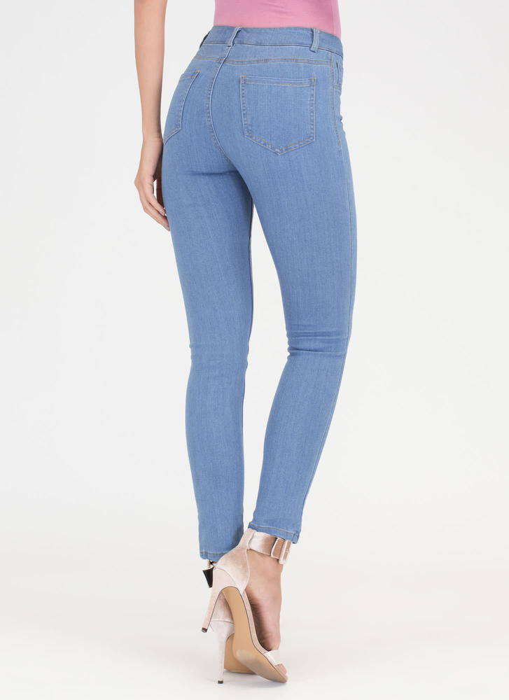 Curve Appeal High-Waisted Skinny Jeans BLUE