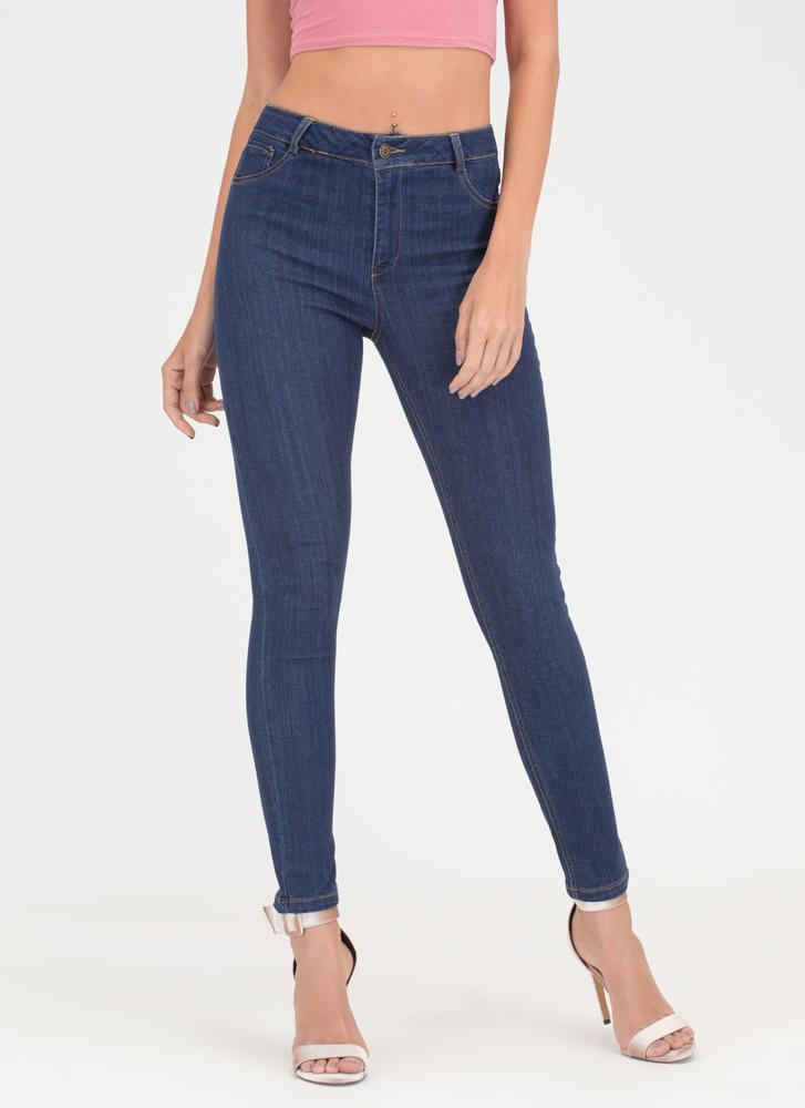 Curve Appeal High-Waisted Skinny Jeans