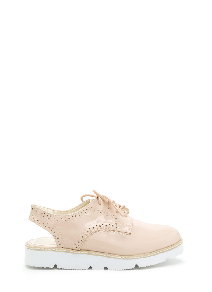 Next Step Cut-Out Oxford Platform Flats