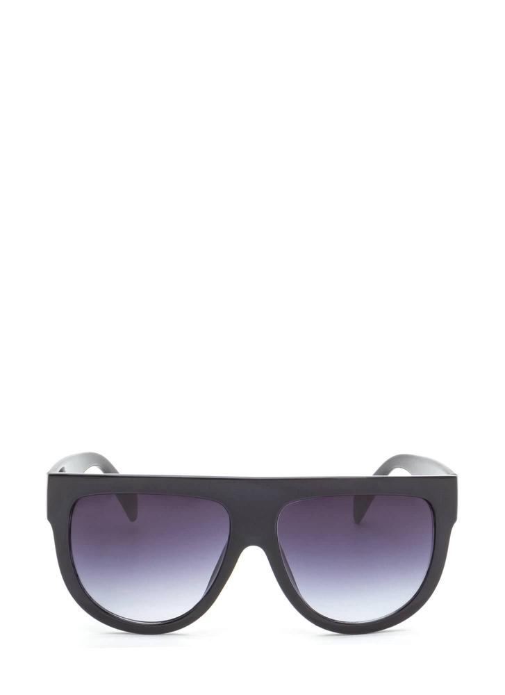 Digging It Thick Flat-Top Sunglasses BLACK