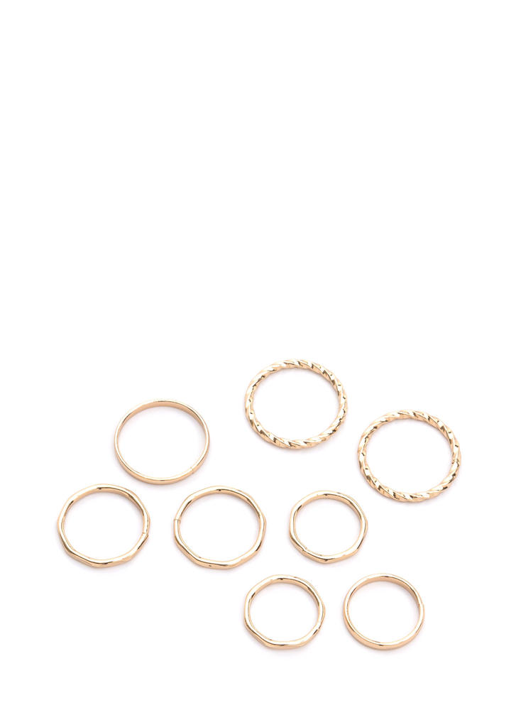 Breath Of Fresh Air Ring Set GOLD