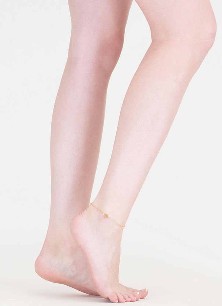 Dainty Blooms Chain Anklet GOLD