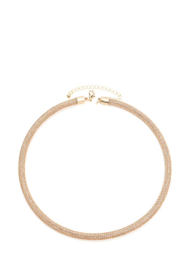 Praise The Cord Metallic Mesh Necklace ROSEGOLD