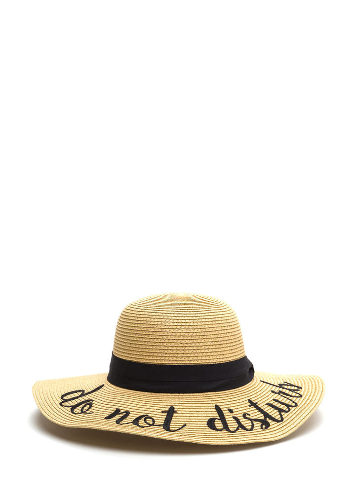 Do Not Disturb Mode Embroidered Sun Hat