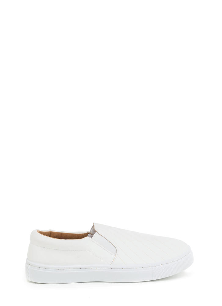 Line By Line Slip-On Sneakers