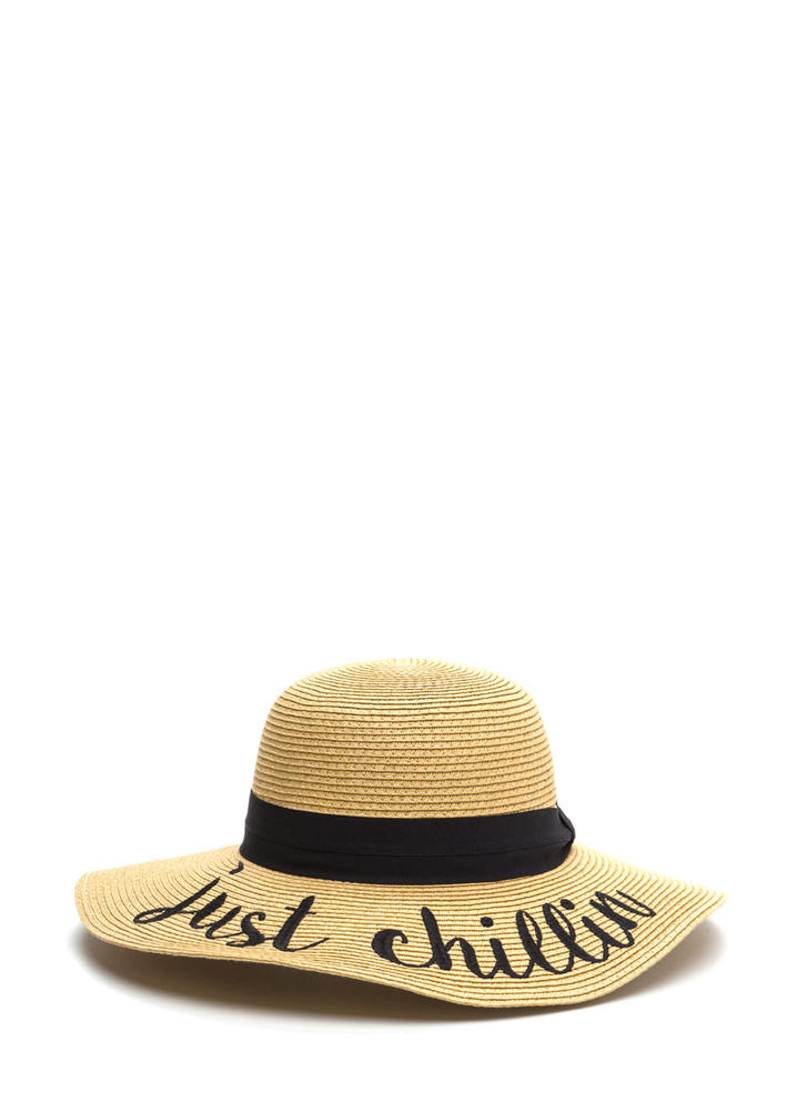 Just Chillin' Embroidered Sun Hat