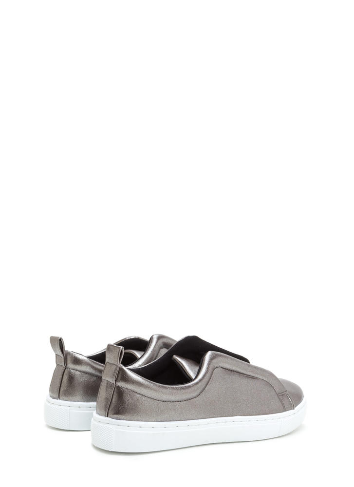 It Pick Metallic Slip-On Sneakers PEWTER