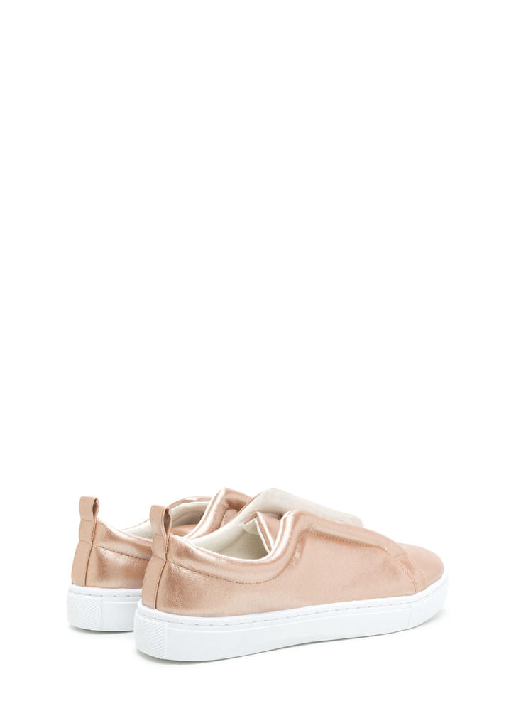 It Pick Metallic Slip-On Sneakers ROSEGOLD