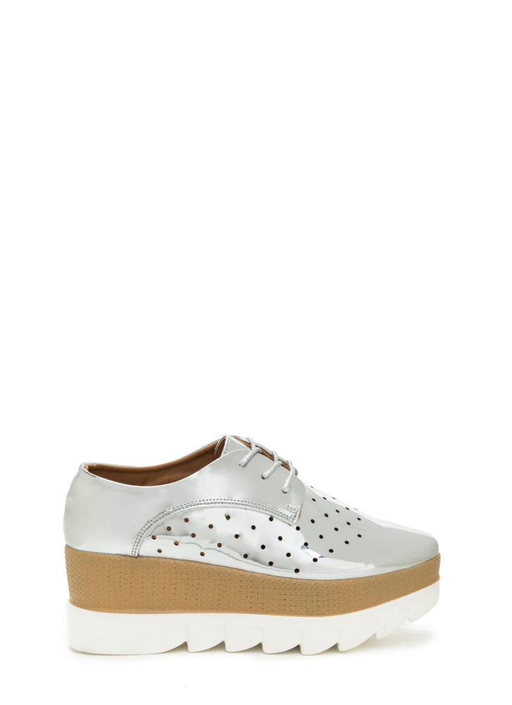 Sleek Peek Perforated Platform Wedges
