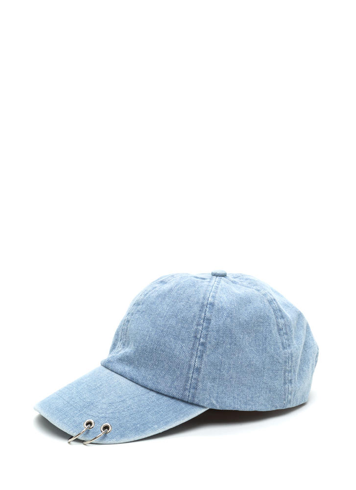 Ring It Up Punched Denim Cap