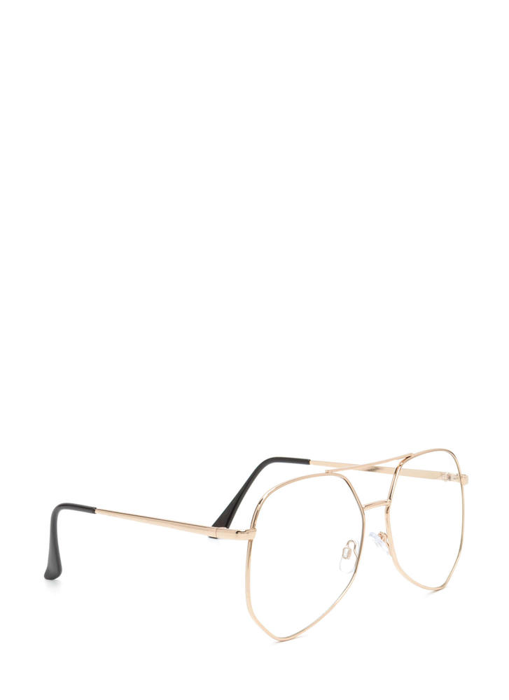 Geek Out Brow Bar Glasses GOLD