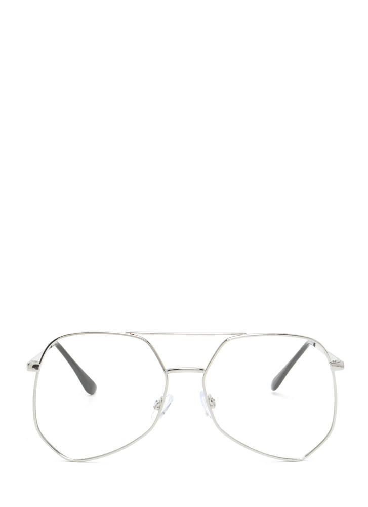 Geek Out Brow Bar Glasses SILVER