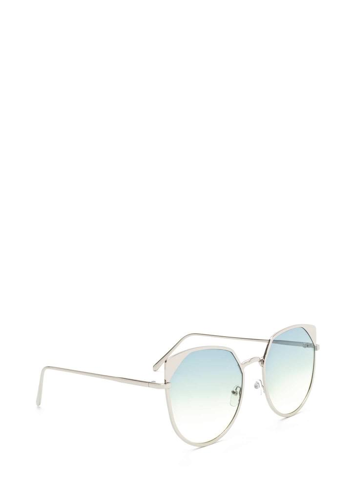Sunny View Rounded Sunglasses GREEN
