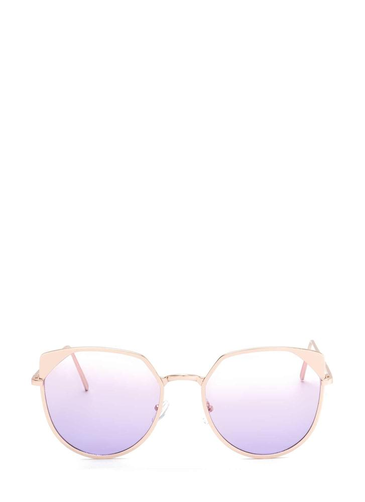 Sunny View Rounded Sunglasses PINK