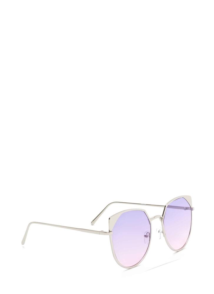 Sunny View Rounded Sunglasses PURPLE