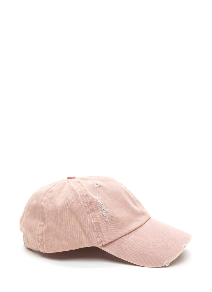Signs Of Distress Washed Baseball Hat DUSTYPINK